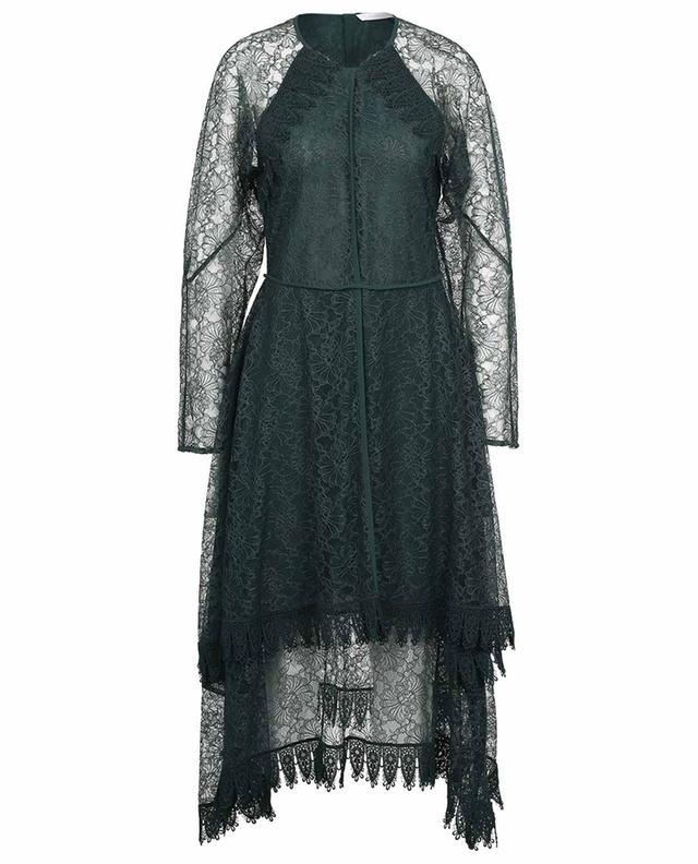 Asymmetrical lace and georgette dress SEE BY CHLOE