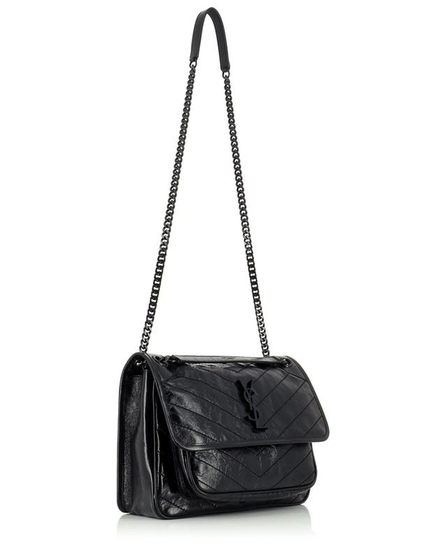 Sac porté épaule en cuir effet vintage brillant Niki Medium SAINT LAURENT PARIS