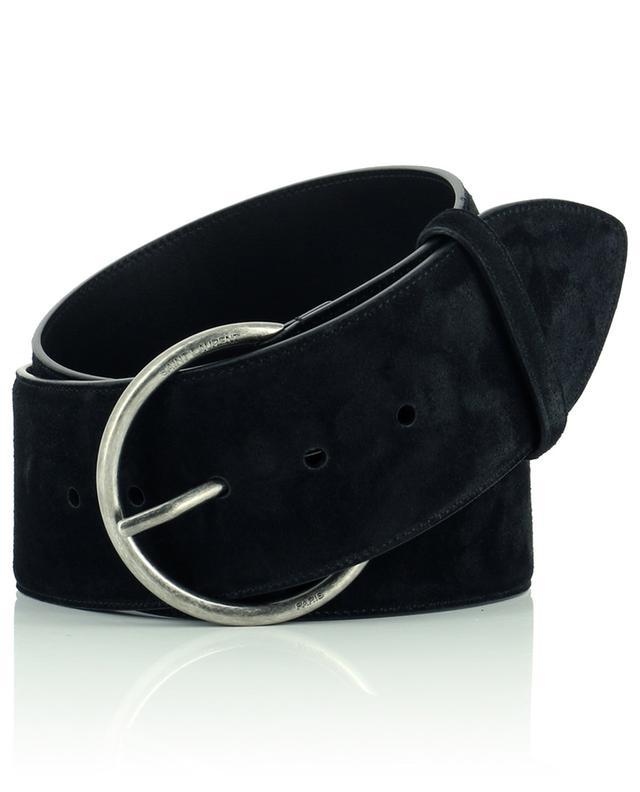 Large ceinture à la taille en daim SAINT LAURENT PARIS
