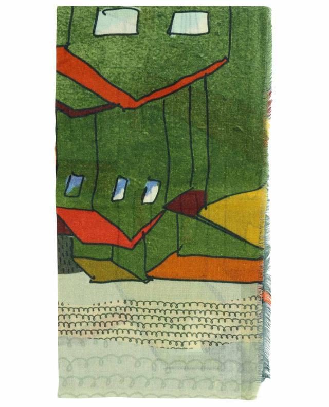 Étole en laine et soie imprimées Casa STORIATIPIC