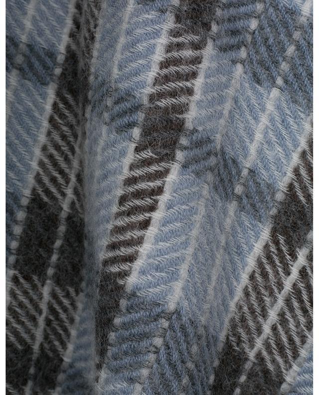 Cape à carreaux en cachemire, alpaga, mohair et laine vierge à manches longues Soraya 19 ANDREA'S 47