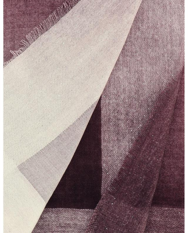 Écharpe en cachemire, soie et chanvre ornée de sequins Square Paillet 19 ANDREA'S 47