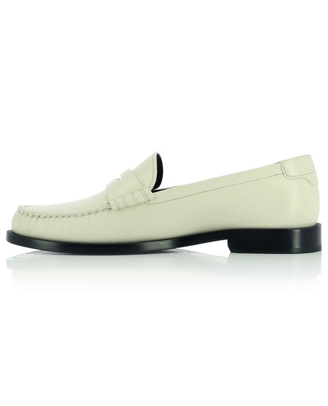 Mocassins en cuir blanc monogrammés Le Loafer SAINT LAURENT PARIS