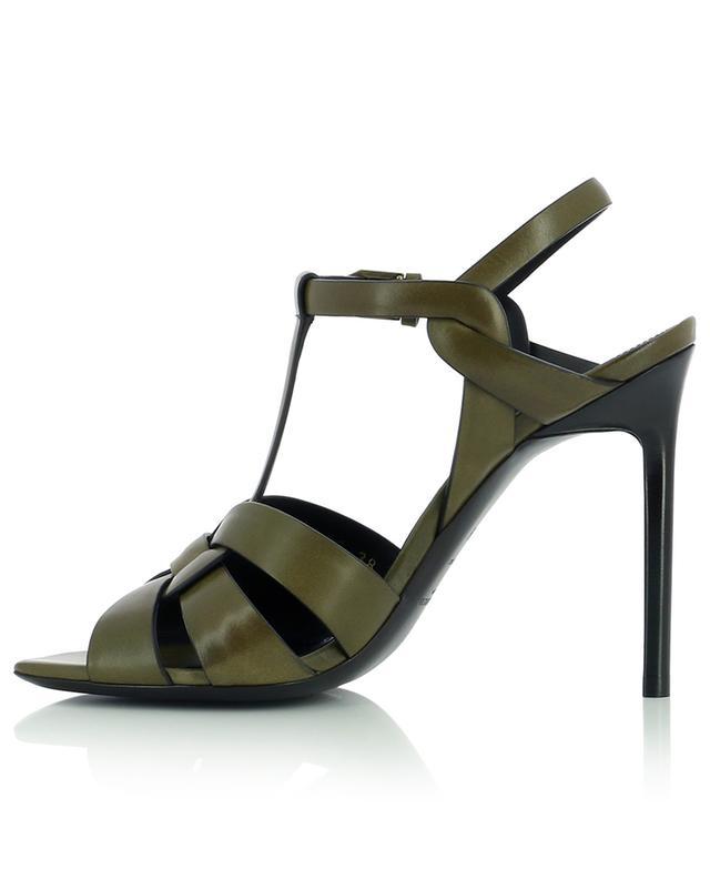 Sandales à talon aiguille et bout carré en cuir Tribute 105 SAINT LAURENT PARIS