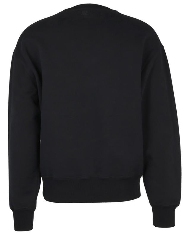 Sweat-shirt à col rond boxy brodé Macro Ami de Coeur AMI