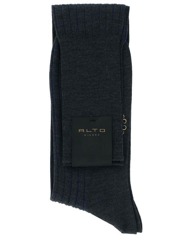 Chaussettes rayées en laine vierge et coton ALTO