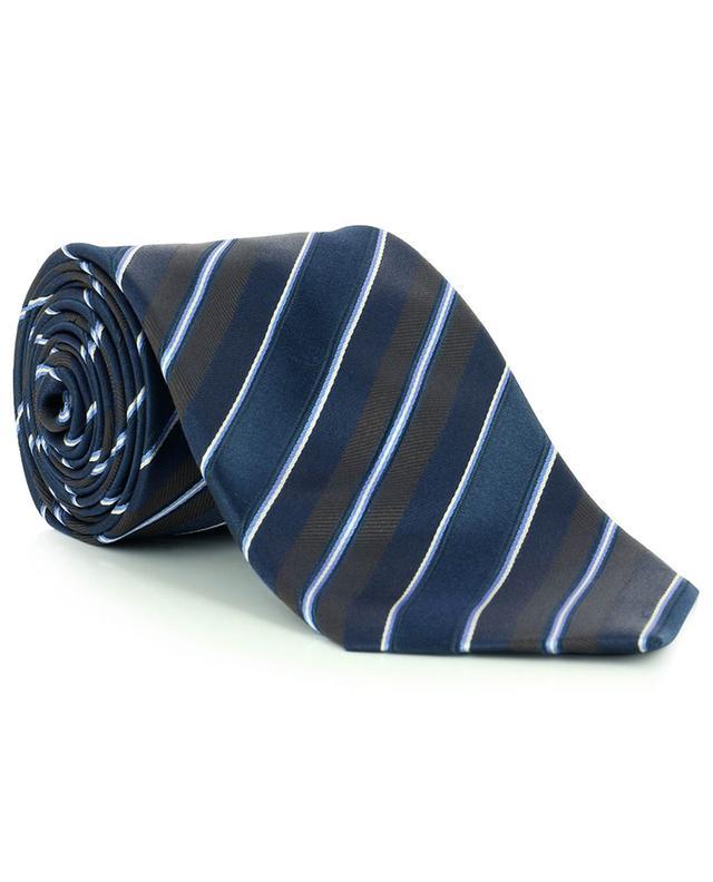 Cravate en soie avec rayures diagonales BRIONI