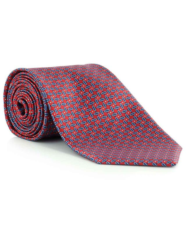 Cravate en soie imprimé abstrait BRIONI