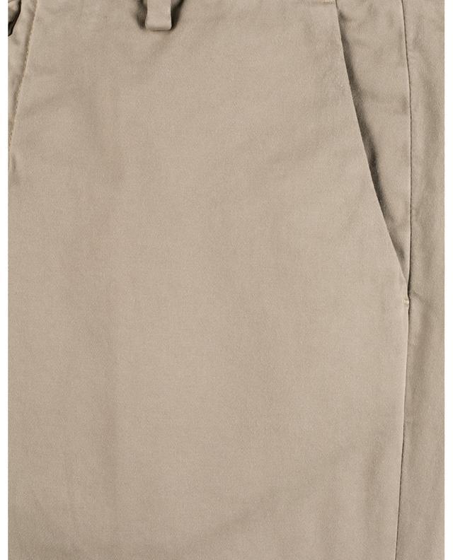 Pantalon chino skinny en gabardine toucher velours B SETTECENTO