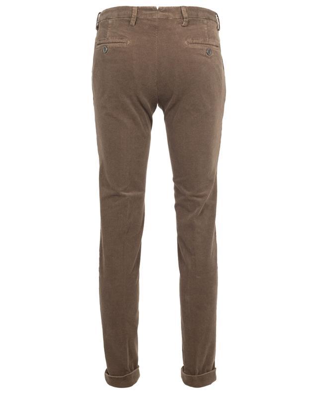 Pantalon slim en velours imprimé B SETTECENTO