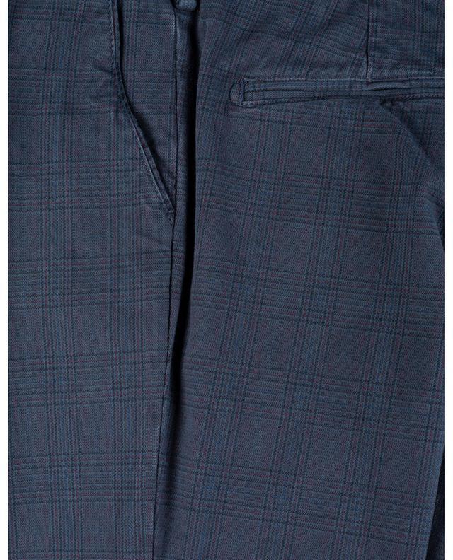 Pantalon slim à carreaux prince-de-galles B SETTECENTO