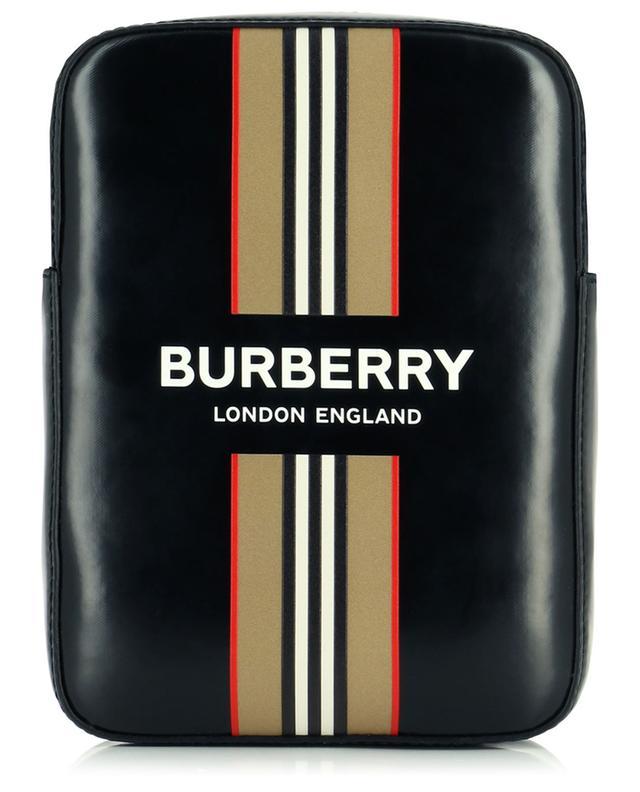 Sac porté croisé en nylon enduit Logo and Icon Stripe BURBERRY