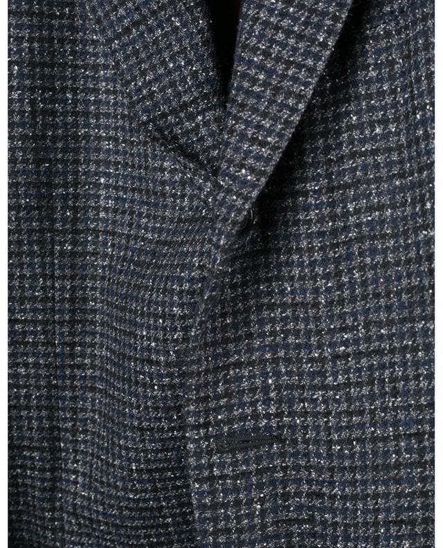 Blazer en laine, soie et cachemire motif pied-de-poule Aida CARUSO