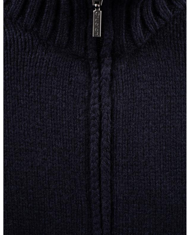 Zip up cardigan in wool and cashmere CRUCIANI