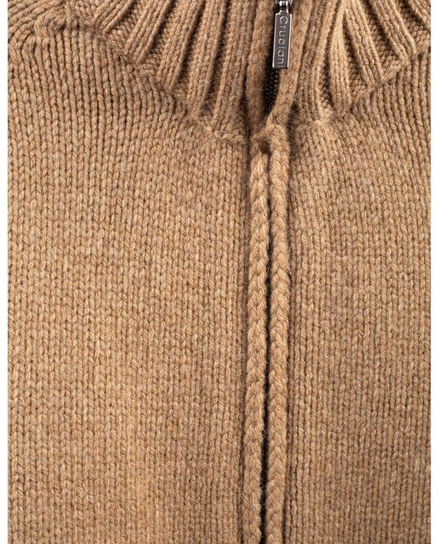 Cardigan zippé en laine et cachemire CRUCIANI