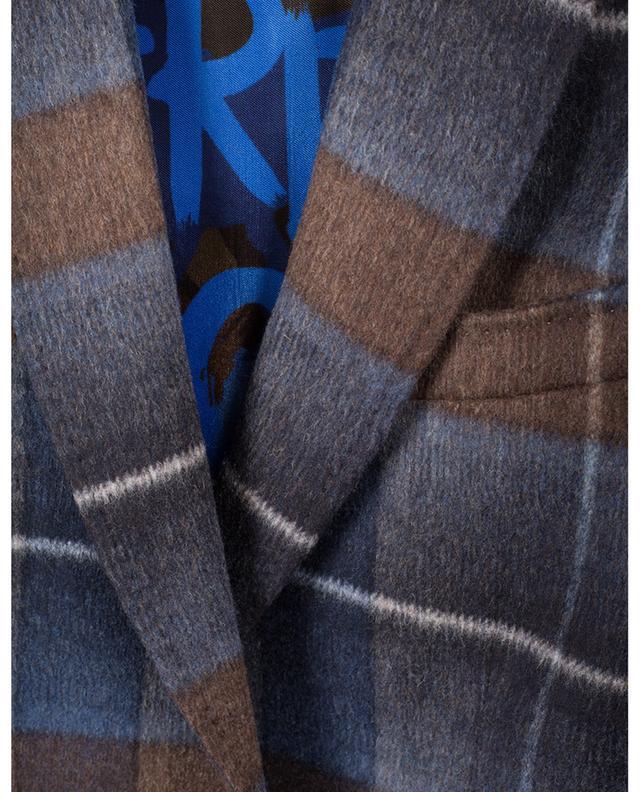 Blazer à carreaux en laine mélangée ETRO