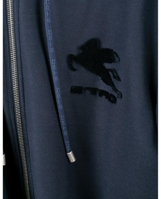 Sweat-shirt zippé en coton et velours ETRO