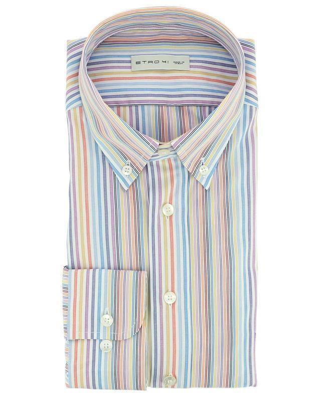 Chemise colorée en coton rayé avec col boutonné ETRO