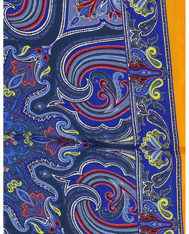 Carré de soie imprimé Paisley Bangalore ETRO