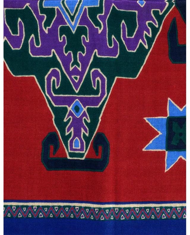 Écharpe en cachemire et soie motifs géométriques Shaal-Nur ETRO