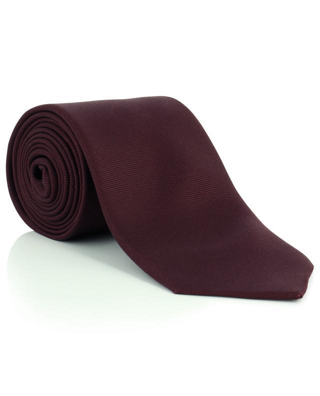 Cravate en sergé de soie faite main DRAKES