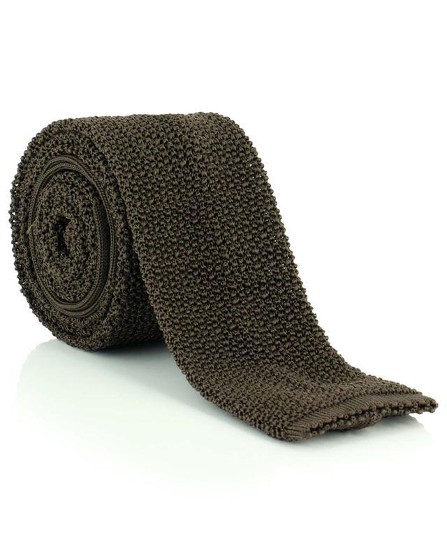 Cravate en maille ajourée et texturée de soie DRAKES