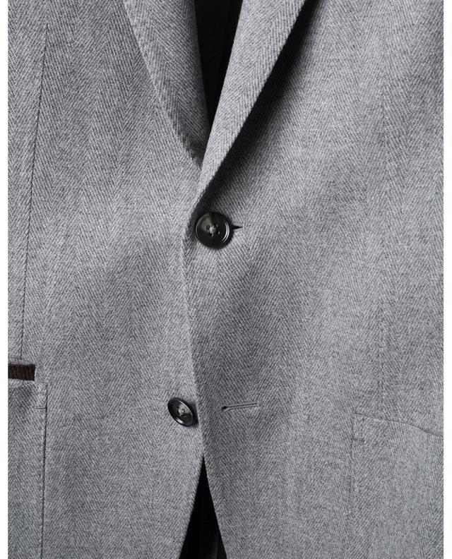 Blazer en laine et cachemire motifs chevrons ERMENEGILDO ZEGNA