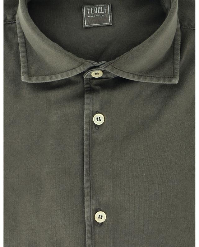 Chemise à manches longues en coton poignets ronds FEDELI