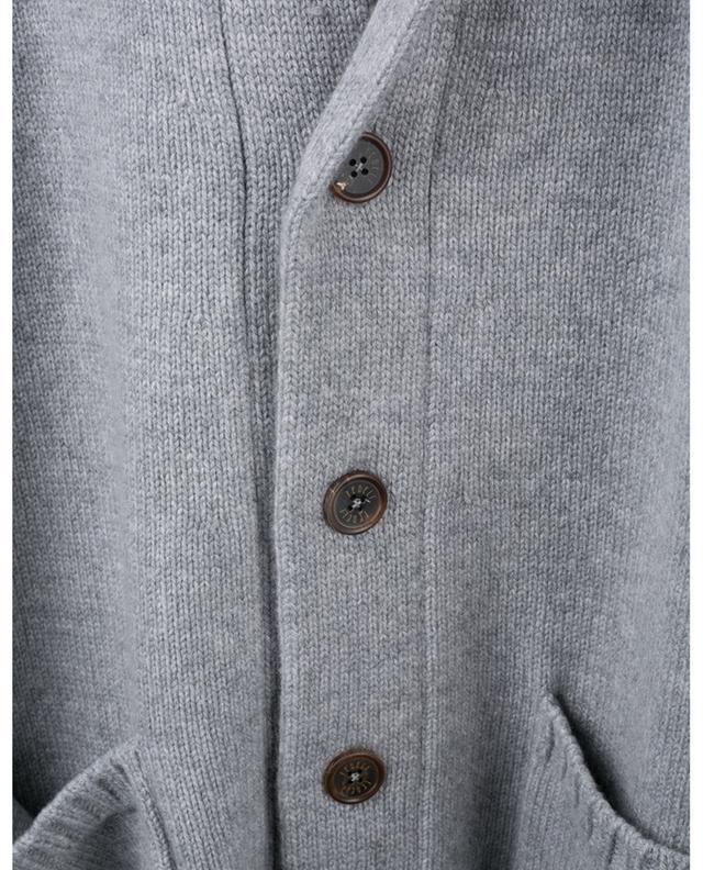 Cardigan boutonné en cachemire épais FEDELI