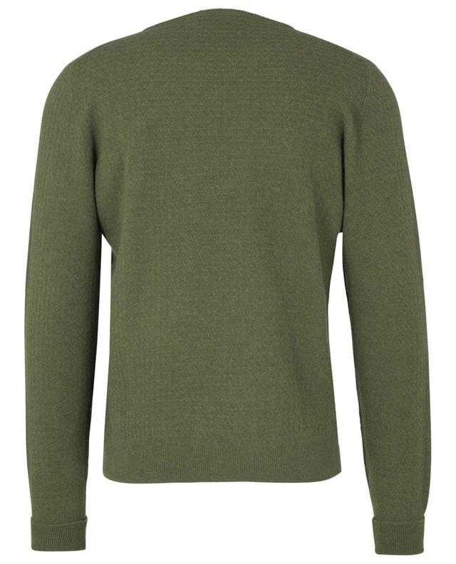 Pull en laine vierge et cachemire texturés FEDELI