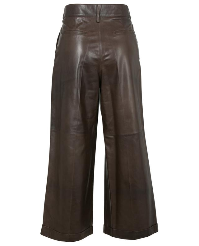 Pantalon large taille haute raccourci en cuir Parel ARMA