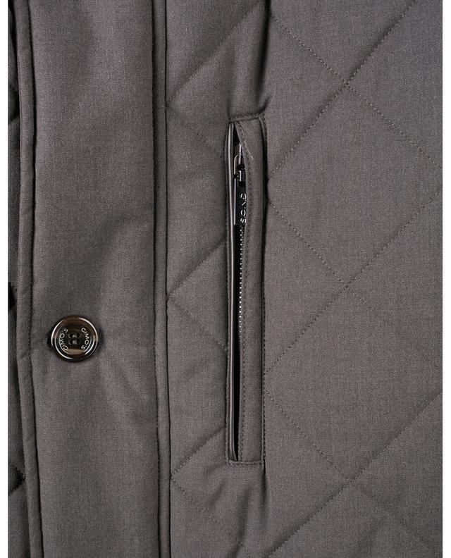 Veste matelassée avec détails en daim synthétique GIMO'S