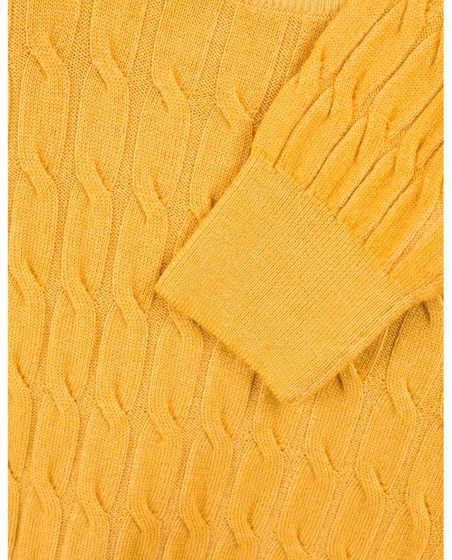Pull torsadé à col rond en laine vierge GRAN SASSO