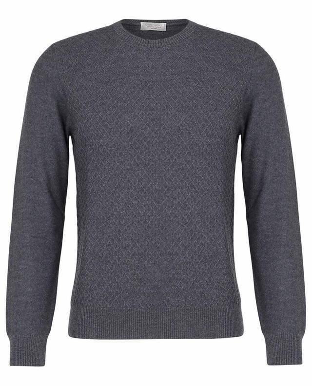 Pull fin col rond en laine vierge texturée GRAN SASSO