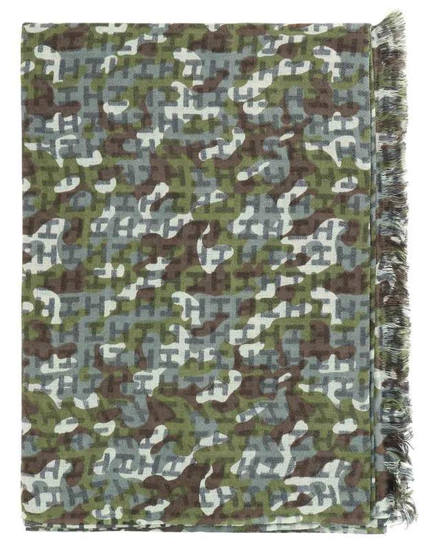 Écharpe monogrammée motif camouflage Iben-BCS HEMISPHERE