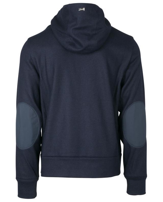 Sweat-shirt zippé à capuche en laine mélangée HERNO