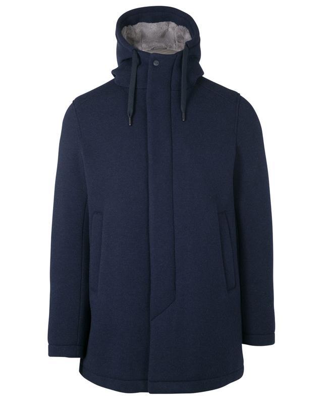 Manteau rembourrée à capuche en laine mélangée HERNO