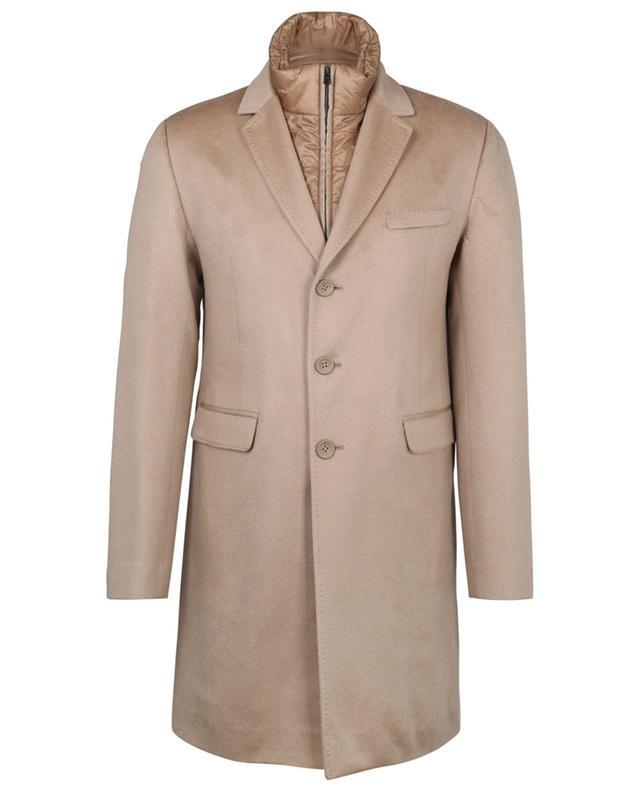 Manteau à boutonnière simple en cachemire déperlant Pure Cashmere HERNO