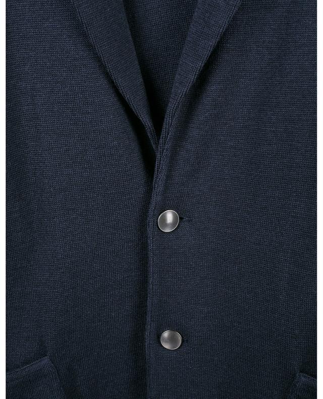 Cardigan en laine esprit blazer à boutonnière simple LARDINI