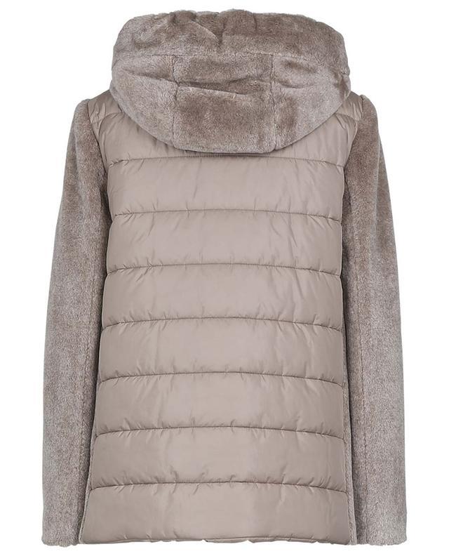 Veste à capuche rembourrée en laine vierge mélangée CINZIA ROCCA
