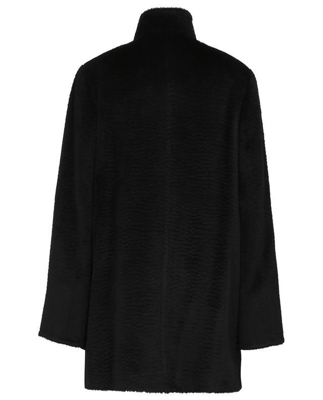 Manteau trois-quarts en alpaga et laine effet zibeline CINZIA ROCCA