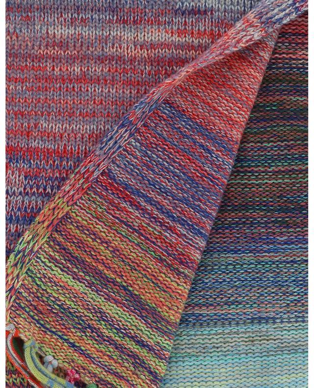 Grande écharpe multicolore chinée en cachemire surcyclé FTC CASHMERE