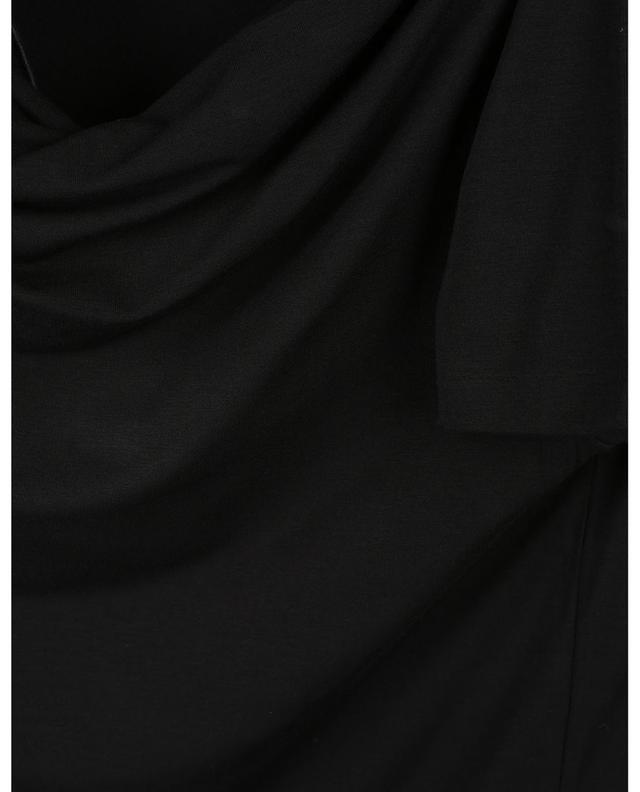 T-shirt à manches longues et col drapé en cascade GRAN SASSO