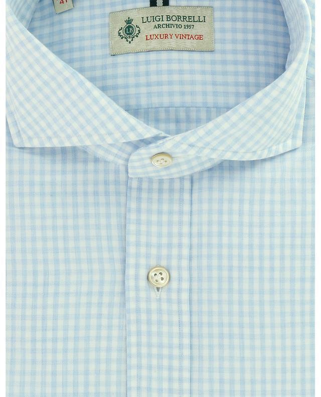 Chemise à carreaux vichy en sergé de coton Felice LUIGI BORRELLI