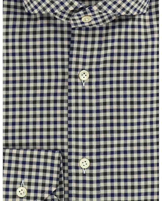 Chemise en sergé à carreaux vichy bicolores Felice LUIGI BORRELLI