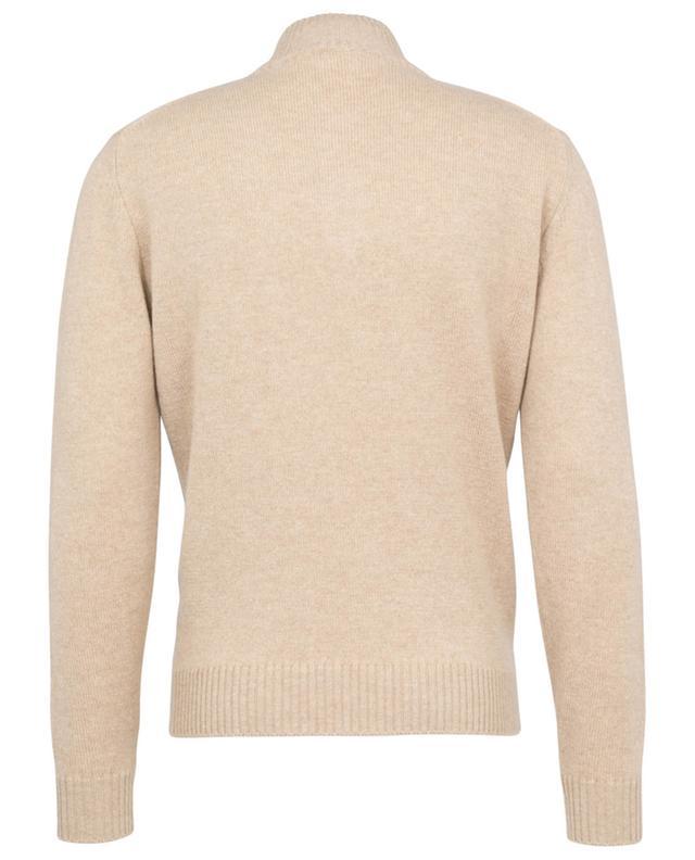 Pull à col montant zippé en laine et cachemire LUIGI BORRELLI