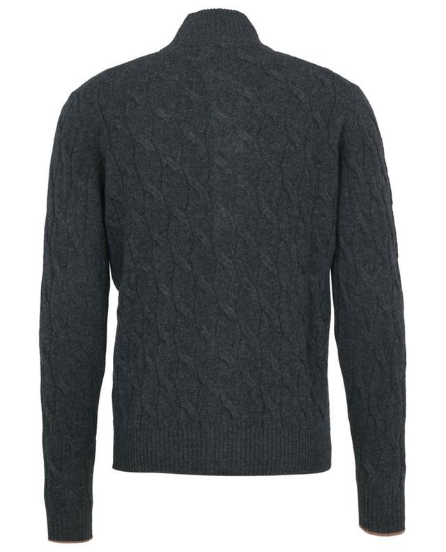 Cardigan boutonné torsadé en laine et cachemire LUIGI BORRELLI