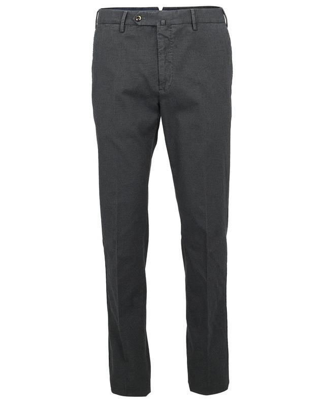 Pantalon en gabardine motif pied-de-poule Superslim Fit PT TORINO
