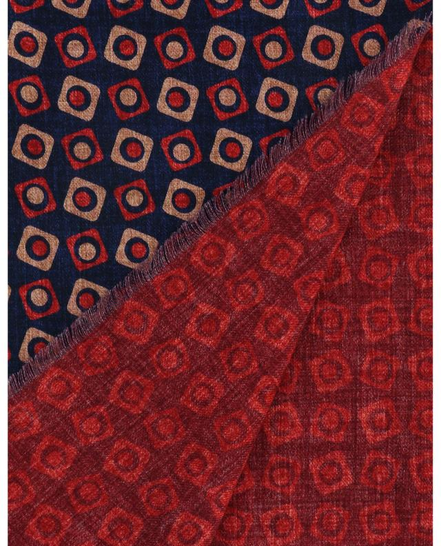 Écharpe en laine motif carrés et pois Bormio ROSI COLLECTION