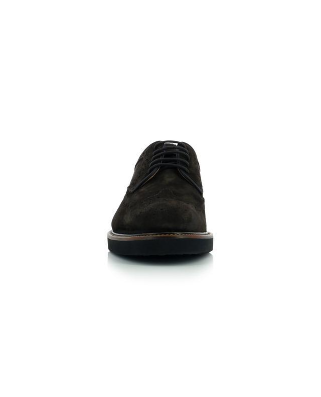 Chaussures à lacets en daim perforé Casual TOD'S
